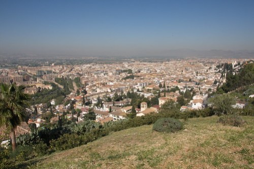 Lookout to Granada city center