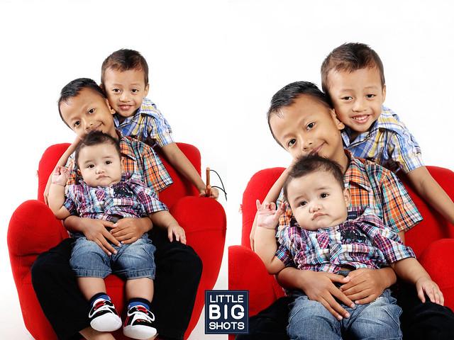 Three Muskeeters | Family Studio Portraiture