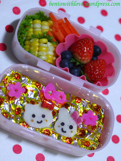 Hello Kitty and My Melody Wannabe Bento