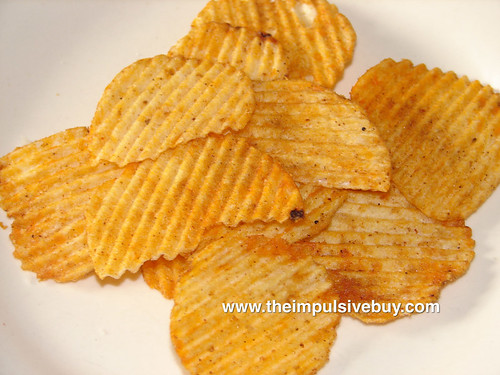 Ruffles Smokehouse Style BBQ Potato Chips Closeup