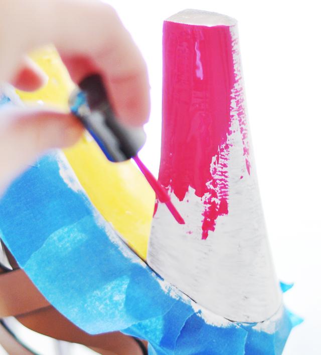 Neon Shoes DIY - paint leather shoes 7