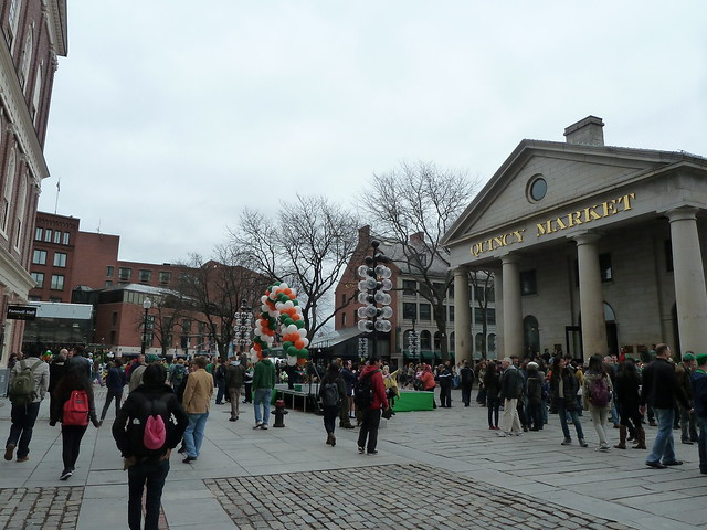 Stage set up in front of Quincy Market