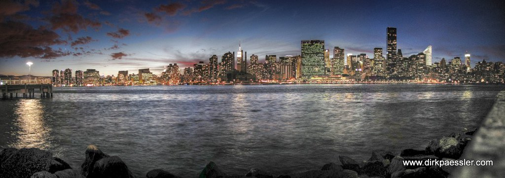 Manhattan Skyline After Sunset by Dirk Paessler