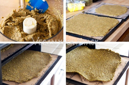 This Raw Flax Crackersrecipe is great for utilizing your leftover juice pulp to make a tasty,raw snack. Paired with a simple, yet delicious guacamole dip it is sure to please.