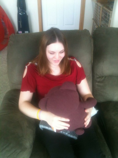 Sarah and Her Daddy Bear