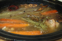 beef stock in crockpot