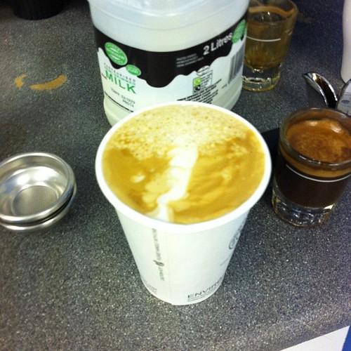 Chris's first coffee :)