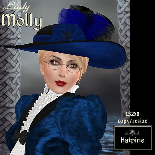 Hatpins - Lady Molly - Blue