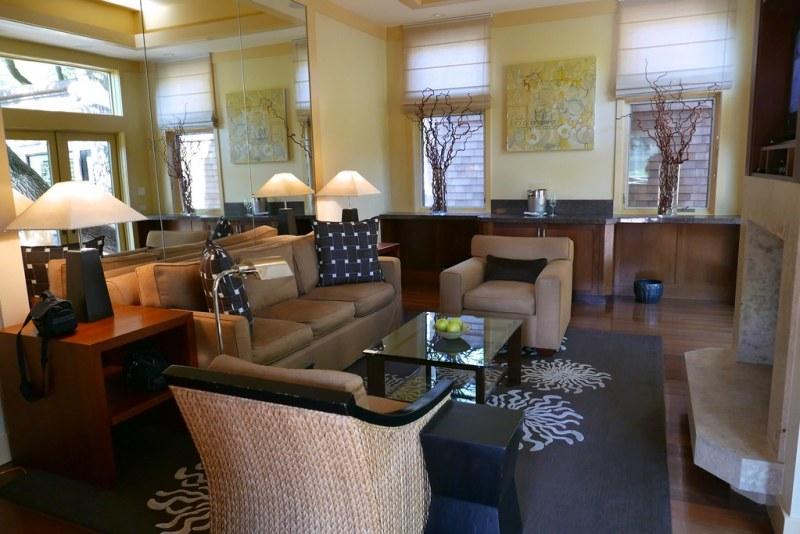 Living room at Calistoga Ranch