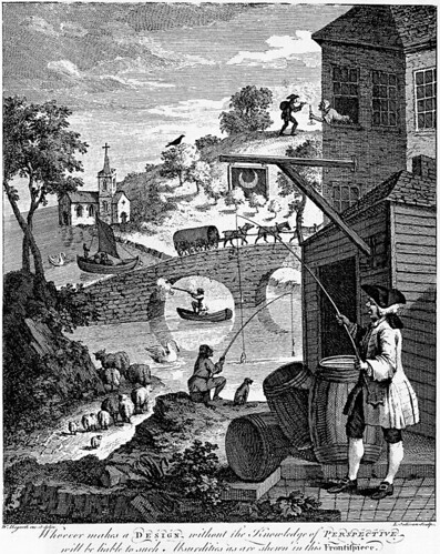 Hogarth: Satire on false pespective (1753)