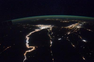 A Night View Around the Mediterranean Sea (NASA, International Space Station, 02/25/12)
