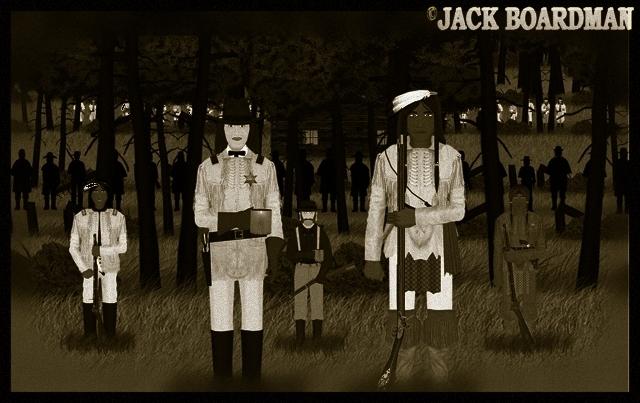 Blackmon & Grey Cloud east side of the cabin ©2012 Jack Boardman