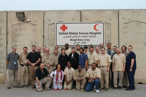 Taylor and Beth's team in Iraq