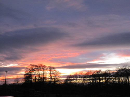Sunset over Great Bardfield