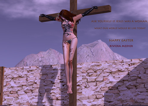 Woman on the Cross by Riviera Medier