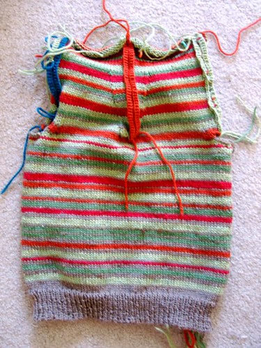 Striped Steeked Vest for a4a1a