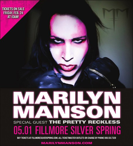 Marilyn Manson at the Fillmore in Silver Spring