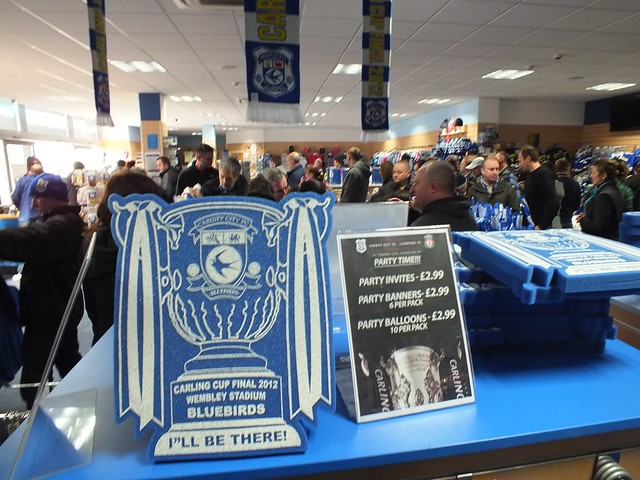 Cardiff City shop full