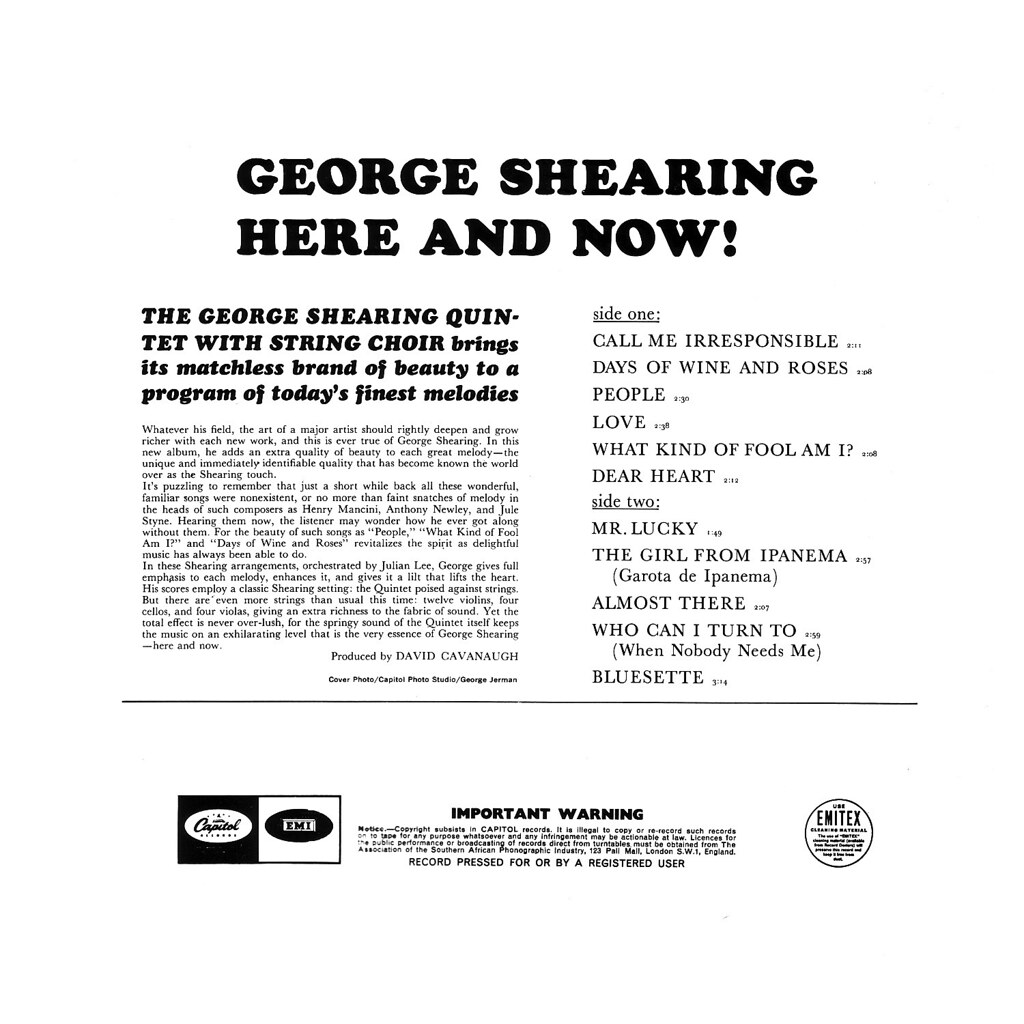George Shearing - Here & Now!