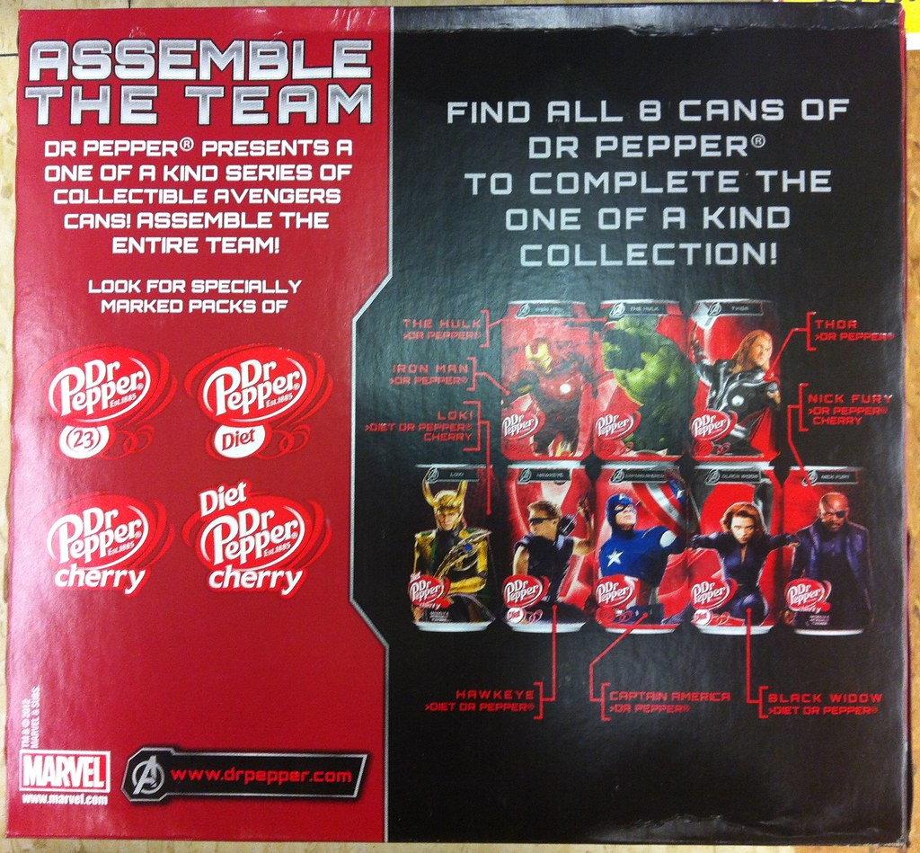 Dr Pepper Assemble the Team promotion