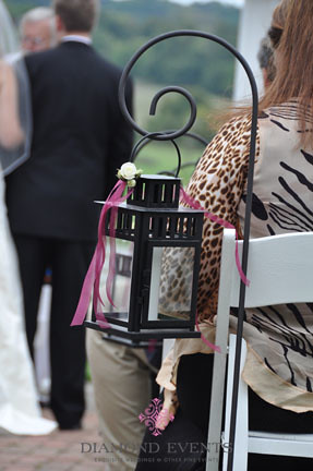 Lanterns on Shepherds Hooks for Wedding Ceremony