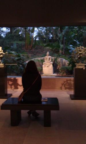 Buddha and meditator