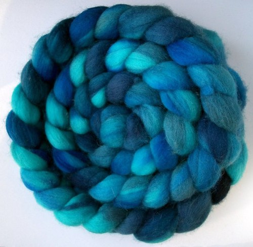 "Turtle Purl merino braid in ""Caribbean"" colourway"