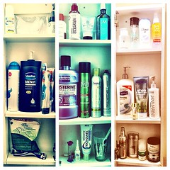 "Day 24 - ""Inside my bathroom cabinet"" #febphotoaday"
