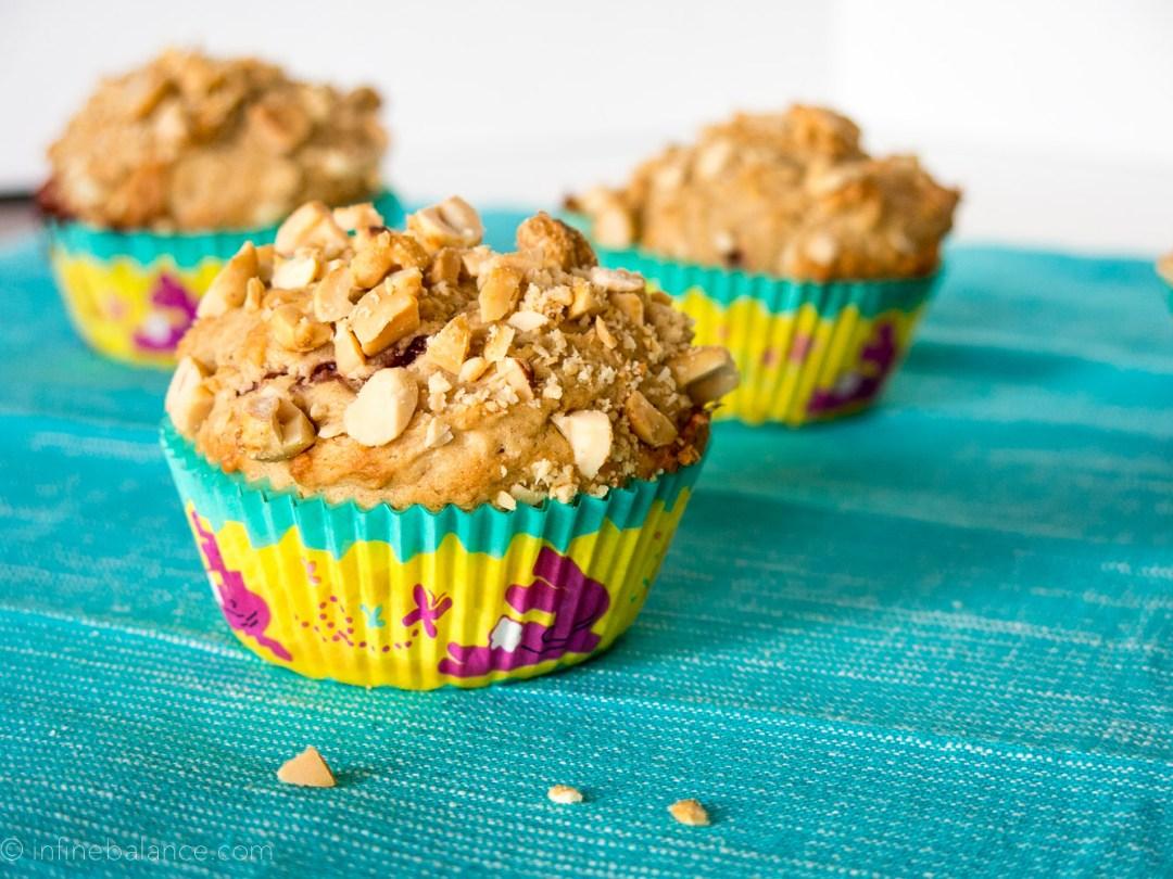 Peanut Butter and Jelly Muffins | www.infinebalance.com #muffins #recipe