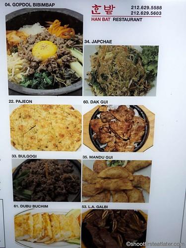 Han Bat Restaurant menu