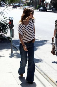 fashion slouchy stripes