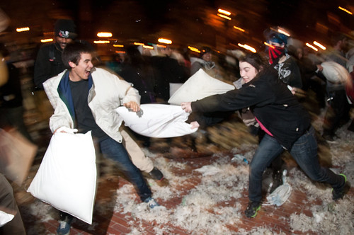 Valentines pillow fight SF