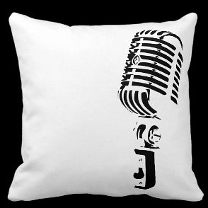 Microphone Throw Pillow
