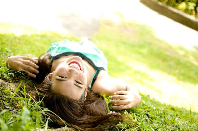 Jane On Grass