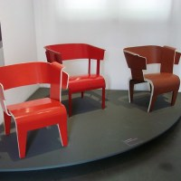 Rietveld Chairs on Display at the Centraal Museum