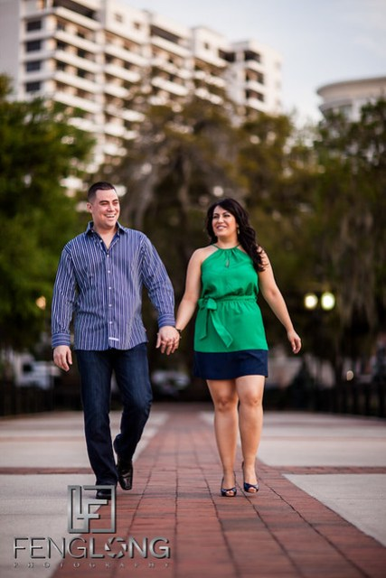 Karina & Ryan's Engagement Session | Lake Eola Park | Orlando Destination Wedding Photographer