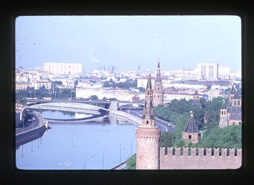 Kremlin and Moscow River, Moscow, 1969