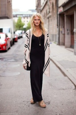 fashion black maxi