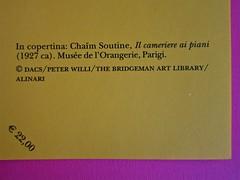 Maurice Sachs, Il Sabba, Adelphi 2011. [Resp. grafica non indicata]. Risvolto della quarta di copertina (part.), 2