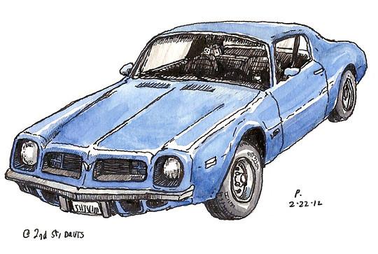 blue pontiac firebird