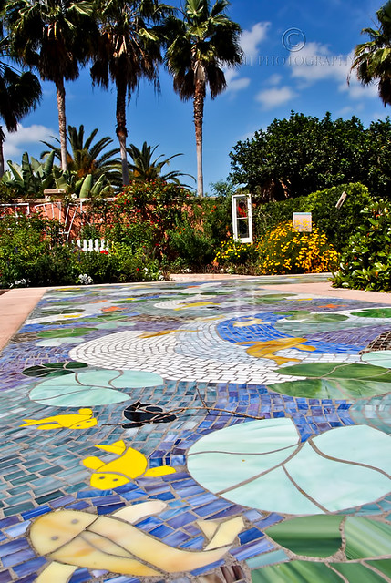 Mosaic and Palm Trees