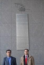 Camilo Cela e Ignacio Ruiperez a las puertas del Europarlamento 27022012