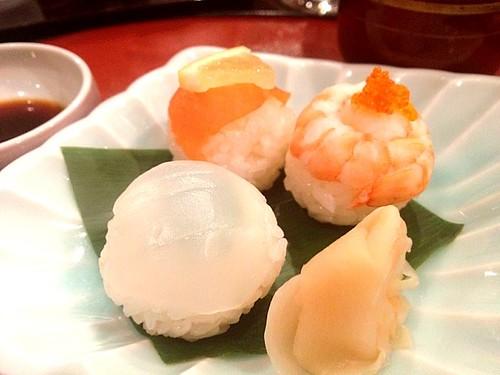 締めは手まり寿司@おとなのひな祭り