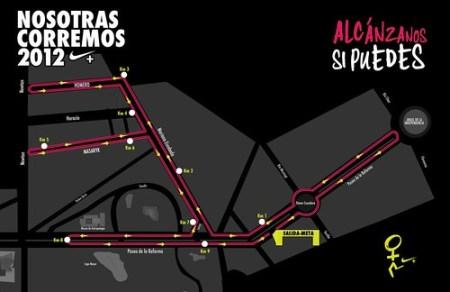 Ruta Nosotras Corremos 2012 10K