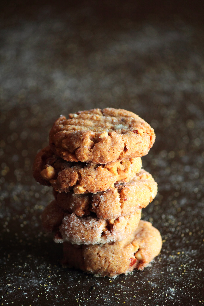 Peanut Butter Cornmeal Cookies