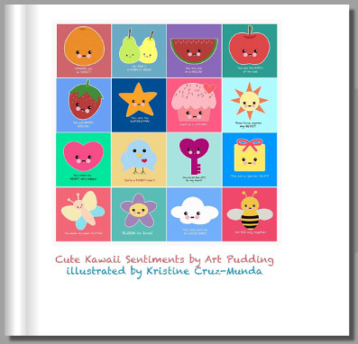 Cute Kawaii Sentiments by Art Pudding Book