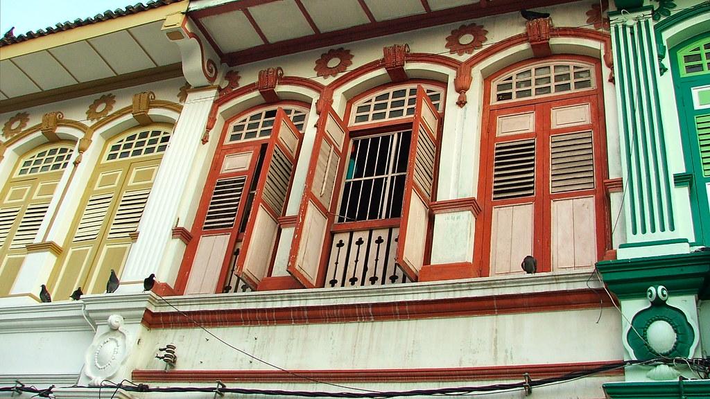 restored Penang shophouses