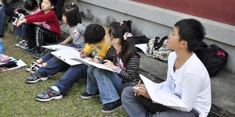 【寫生】台南開山神社:六個孫子終於一起畫(7.6ys)