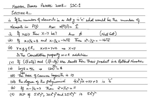 complete and comprehensive federal board maths papers solution ...