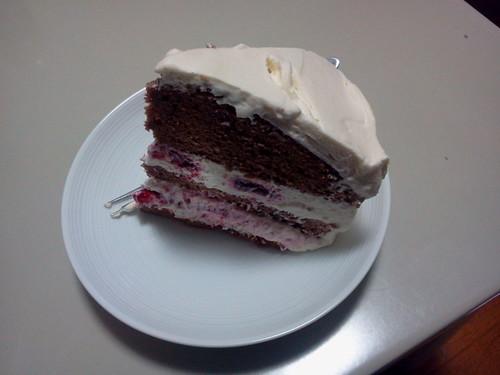 悪魔のケーキの断面図